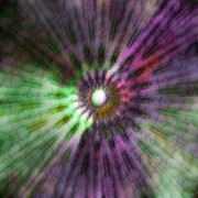 Radiating Light Digital Art - Galactic Central Light - C by Linda Cornelius