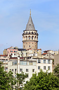Galata Tower In Istanbul Print by Artur Bogacki