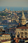 Turkish Photo Prints - Galata Tower Print by Photo by Bernardo Ricci Armani