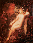 Long Blonde Hair Prints - Galatea Print by Gustave Moreau