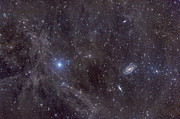Flux Prints - Galaxies M81 And M82 As Seen Print by John Davis