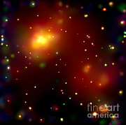 Ursa Minor Posters - Galaxy Cluster Abell 2125 Poster by NASA / Science Source