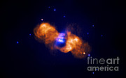 Jet Star Photo Metal Prints - Galaxy Collision Metal Print by Nasa