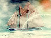 Ghost Boat Framed Prints - Galaxy Ghost Framed Print by Madeline M Allen