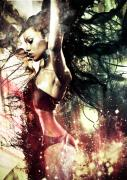 Photo Manipulation Originals - Galaxy Goddess by Shy Bartolo