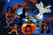 Galaxy Halloween Party Print by Garry Staranchuk