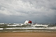 Grand Haven Prints - Gale Warnings 2 Print by Robert Pearson