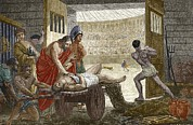 Slaves Photo Prints - Galen Treating A Gladiator In Pergamum Print by Sheila Terry