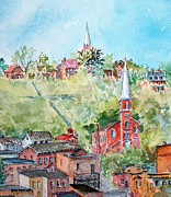 City Scape Paintings - Galena 0612 by Ken Marsden