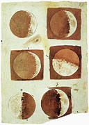 Moon Drawings Prints - Galileo - Moon Print by Granger