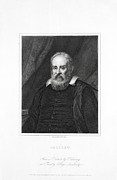 Galileo Framed Prints - Galileo Galilei, Italian Astronomer Framed Print by Library For The Performing Artsnew York Public Library