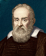 Galileo Framed Prints - Galileo Galilei, Italian Astronomer Framed Print by Sheila Terry