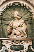 Statue Portrait Photos - Galileos Tomb, Florence, Italy by Sheila Terry