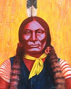 J W Kelly Framed Prints - GALL Warrior Chief Framed Print by J W Kelly