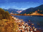 Gallatin River Paintings - Gallatin RIver Dreams by Diane E Berry