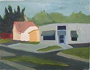 Streetscape Paintings - Galleria Lamp East Hill Pensacola by Jahna Jacobson