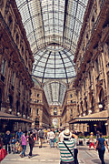 Shoppers Framed Prints - Galleria Vittorio Emanuele Framed Print by Benjamin Matthijs