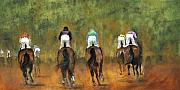 Galloping Paintings - Galloping Out by Leisa Temple