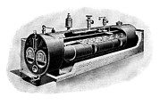Technical Prints - Galloway Steam Boiler Print by Mark Sykes