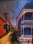 Galveston Paintings - Galveston Alley II by Linda Scott