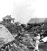 Flooding Prints - Galveston Flood Debris - September - 1900 Print by International  Images