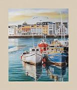Fishing Boats Paintings - Galway Harbour by Vanda Luddy