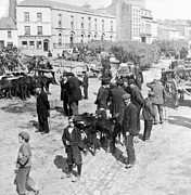 Carriages Posters - Galway Ireland - The Market at Eyre Square - c 1901 Poster by International  Images