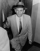 Gangster Metal Prints - Gambling Boss Meyer Lansky 1902-1983 Metal Print by Everett