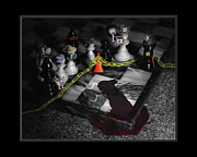 Checkmate Metal Prints - Game - Chess - Its only a Game Metal Print by Mike Savad