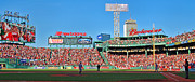 Boston Red Sox Metal Prints - Game Day Metal Print by Joann Vitali