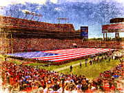Stadium Digital Art - Game Day Nine Eleven Tribute by Andrew Armstrong  -  Orange Room Images