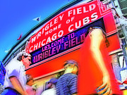 Cubs Baseball Park Prints - Game Day One Print by Brian Gregory