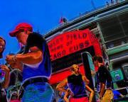 Cubs Baseball Park Prints - Game Day Tickets Print by Brian Gregory