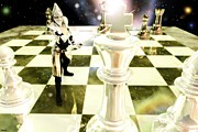 Chess Queen Mixed Media Prints - Game For Throne Print by Gabriel Forgottenangel
