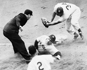 Yogi Berra Prints - Game Four Of The 1949 World Series Print by Everett