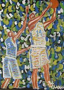 Basketball Paintings - Game On by Michael Chatman