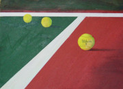 Tennis Painting Originals - Game Set Match by Ronald Lightcap