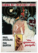 1950s Poster Art Framed Prints - Gamma People, Bottom From Left Paul Framed Print by Everett