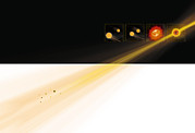 Neutron Star Posters - Gamma Ray Burst Formation Poster by Claus Lunau