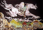 Wizard Tapestries - Textiles - Gandalf and Shadowfax by Carol Law Conklin