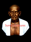 Creative Sculptures - Gandhi Ji Statue  by Sumit  Pandey