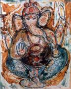 Oils Originals - Ganesh 7 by Anand Swaroop Manchiraju