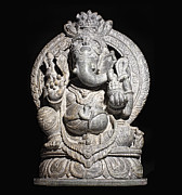 Religious Art Photos - Ganesh Hindu God Isolated  by Gualtiero Boffi