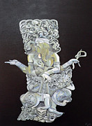 Olive Wood Originals - Ganesh The Elephant god by Eric Kempson