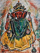 Ganesha Paintings - Ganesha-2 by Anand Swaroop Manchiraju