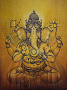 Snake Paintings - Ganesha darshan by Vrindavan Das