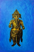 Ganesha Paintings - Ganesha Idol by Usha Shantharam