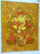 Ganesha Paintings - Ganesha Mural by Amrutha