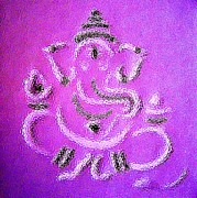 Indian Artist Prints - Ganesha Print by Piety DSILVA