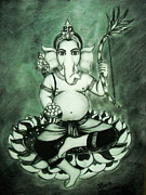 Lord Pastels - Ganesha  by Sri Mala